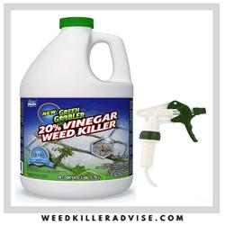Green Gobbler Vinegar Weed Killer for flower beds